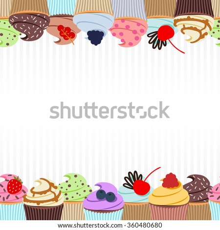 sweet cupcakes background