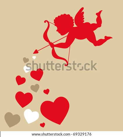 sweet cupid   greetings card