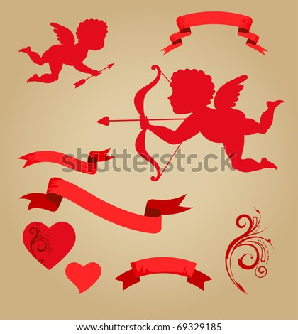 sweet cupids  ribbons and