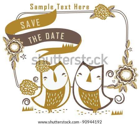 sweet cute couple owl in garden