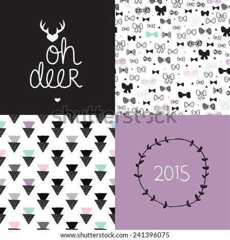 sweet deer black and white
