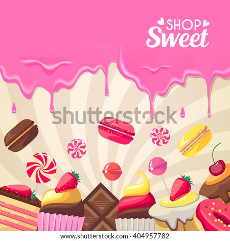 sweet dessert food frame