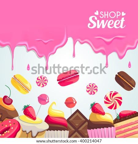 sweet dessert food frame