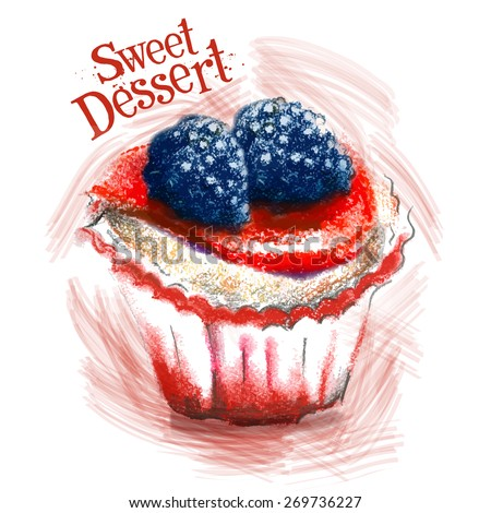 sweet dessert vector logo design template. cake, pastry or brownie, pie icon.