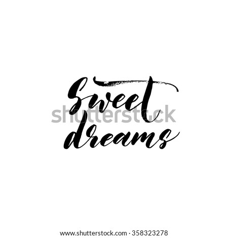 sweet dreams card hand drawn