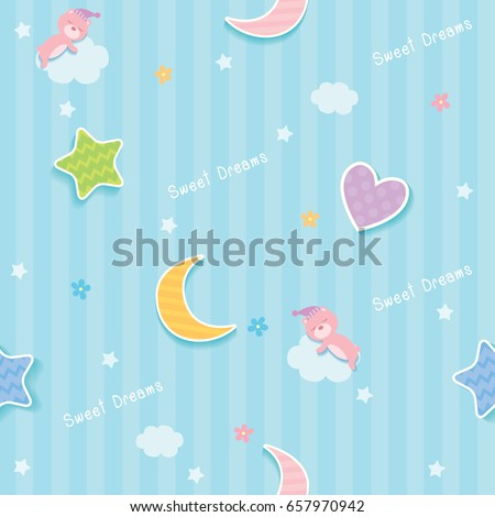 stock-vector-sweet-dreams-cute-seamless-pattern-design-decorated-with-cloud-star-moon-heart-and-sleeping-bear