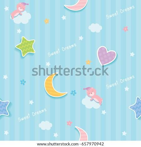 sweet dreams cute seamless