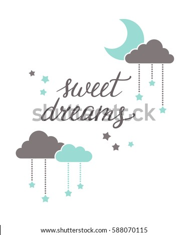 sweet dreams hand lettering