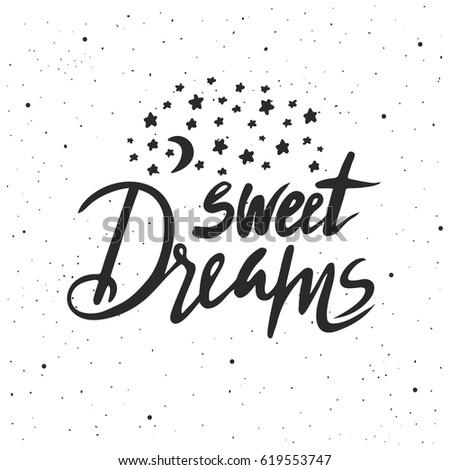 sweet dreams lettering hand