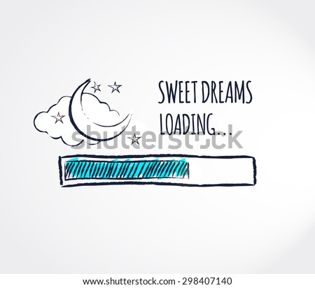 sweet dreams loading concept