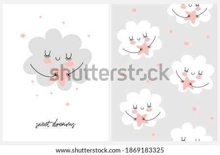 sweet dreams nursery card and