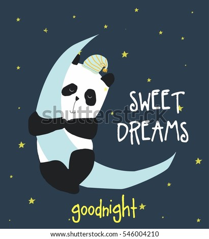 sweet dreams panda vector