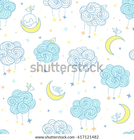 sweet dreams seamless pattern