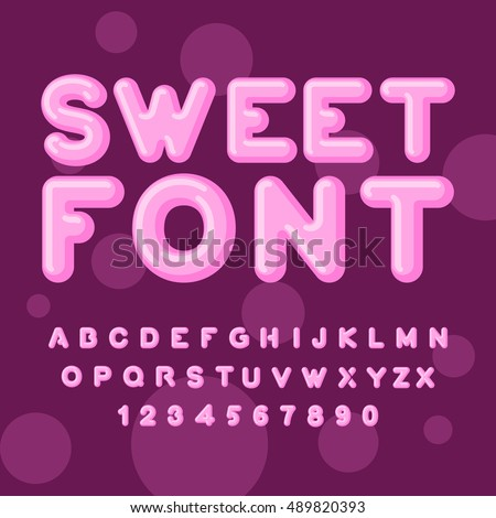 sweet font pink letters