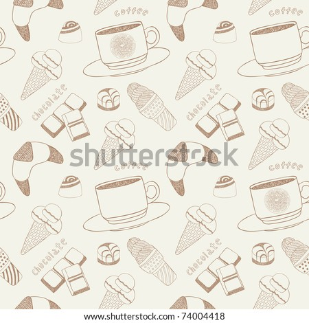 sweet food seamless - stock vector