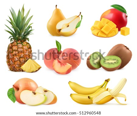 sweet fruit banana  pineapple