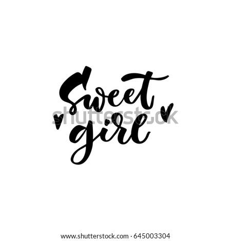 sweet girl hand lettering