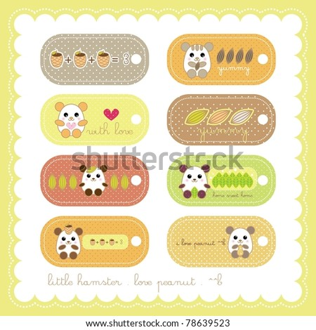 sweet hamster book mark collection