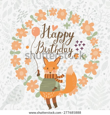 sweet happy birthday card with