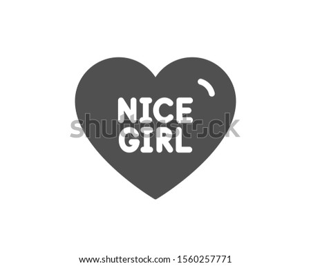sweet heart sign nice girl
