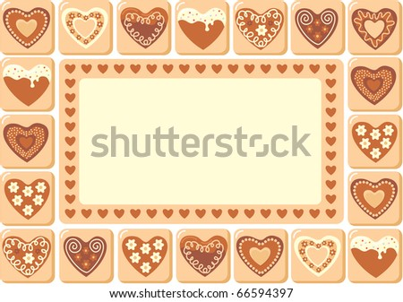 Sweet hearts frame