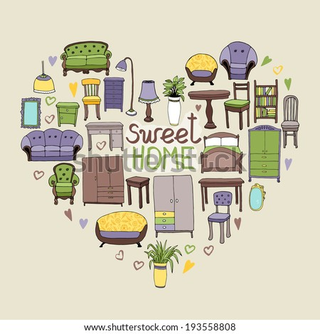 sweet home concept with various