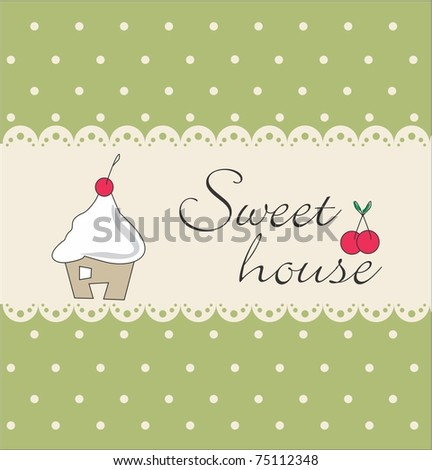 Sweet house - stock vector