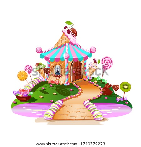 sweet house on candy land