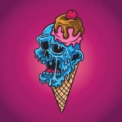 Sweet Ice Cream Zombie Vector