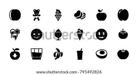 sweet icons set of 18 editable