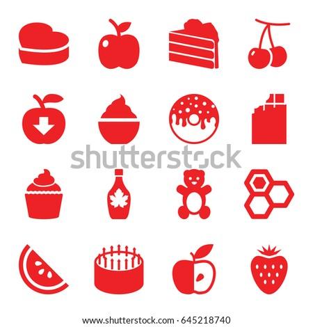 sweet icons set set of 16