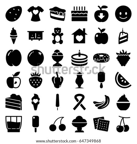 sweet icons set set of 36
