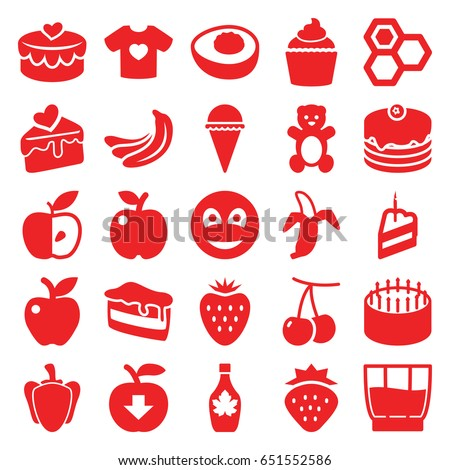 sweet icons set set of 25