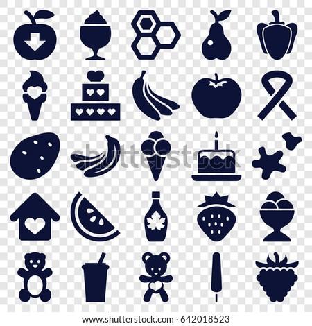 sweet icons set set of 25
