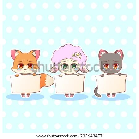 sweet kitty little cute kawaii
