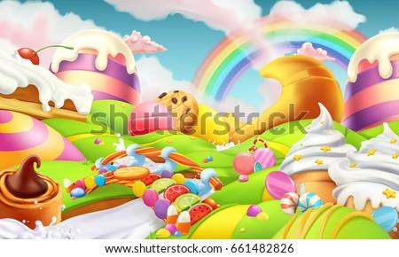 sweet landscape candy land
