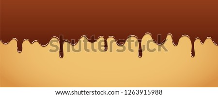 sweet melting chocolate icing background vector illustration EPS10