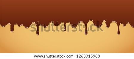 sweet melting chocolate icing background vector illustration EPS10