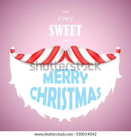 sweet merry christmas vector