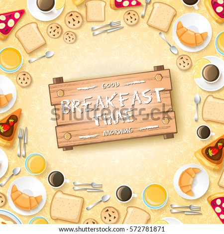 sweet morning concept with