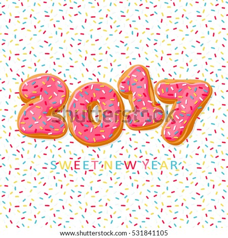sweet new year 2017 from donuts