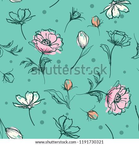 sweet pastel  botanical flowers