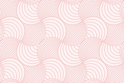 Sweet pink geometric line circle abstract background seamless pattern vector design.