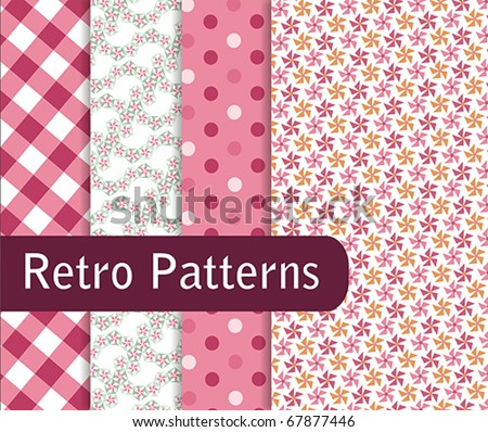 Sweet Pink Patterns - stock vector