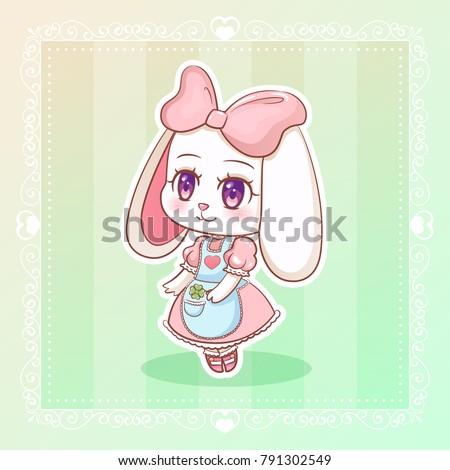 sweet rabbit little cute kawaii