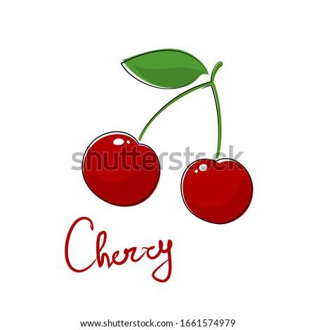 sweet red berry cherry and text
