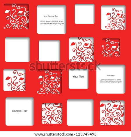 Sweet red vector web design with pattern