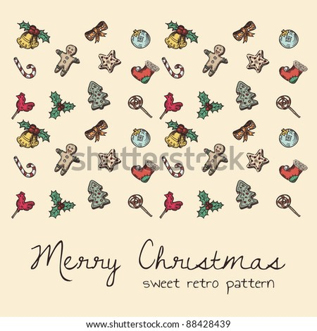 sweet retro seamless pattern for Christmas theme