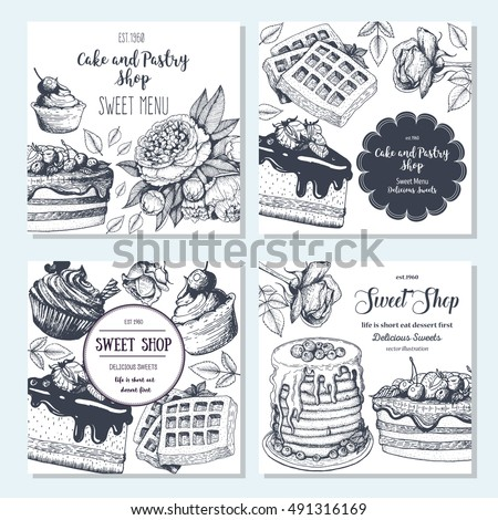 Vector Images Illustrations And Cliparts Sweet Shop Banner