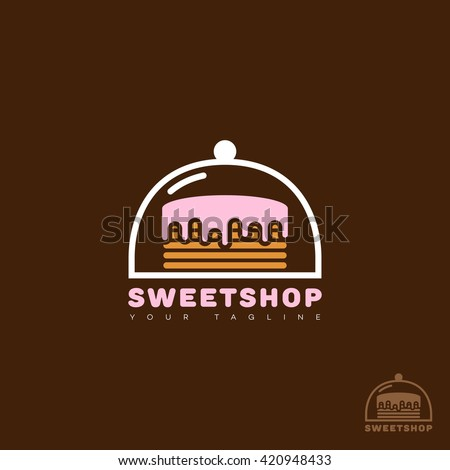 sweet shop logo template design
